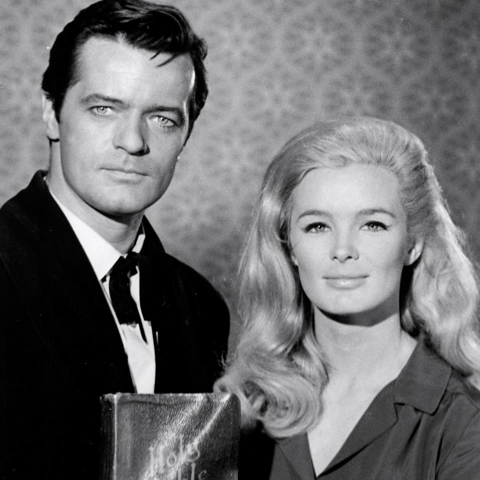 "Robert Goulet and Linda Evans in ""The Big Valley"""